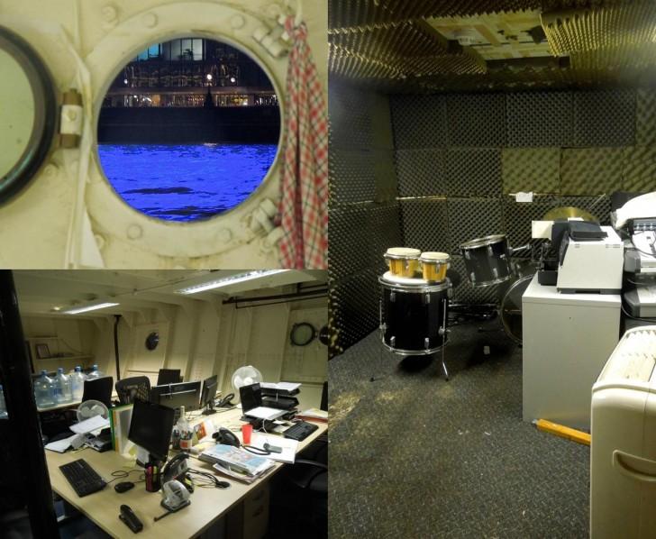 レコーディング・スタジオや普通のオフィスが!