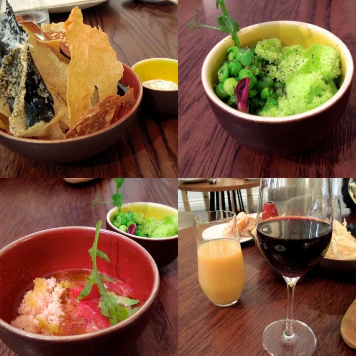 バラエティに富んだ味を楽しめるパリパリ・スナックや野菜の滋味を味わえる小鉢まで、突き出しが充実