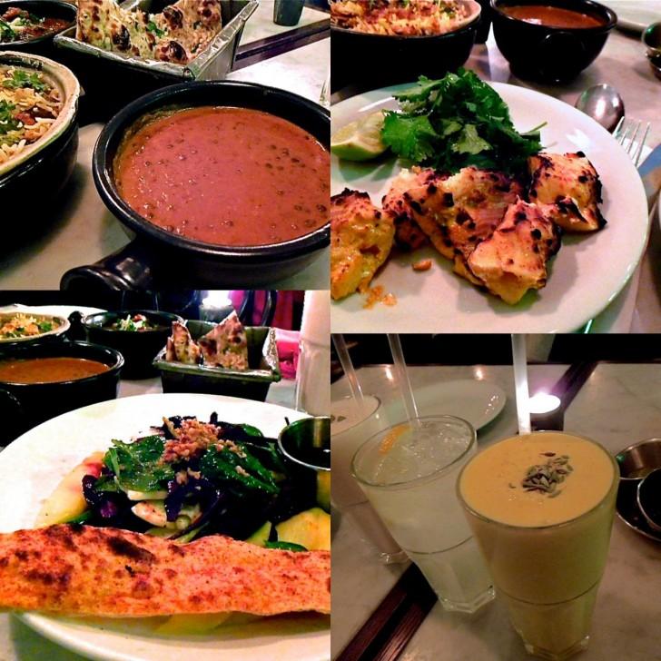 ブラック・ダール、マンゴー・サラダ、魚のタンドーリ、マンゴー・ラッシー♪