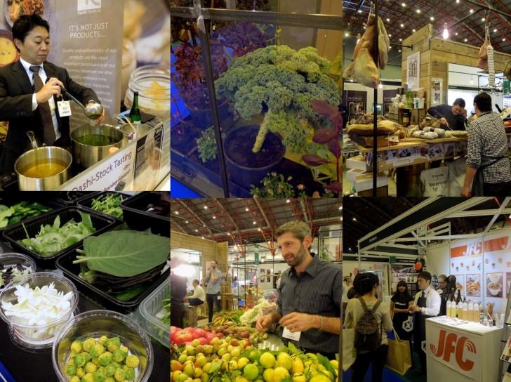 マイクロ・ハーブやエキゾチック・フルーツ、そして巨大に育った野菜はディスプレー用 ^^;