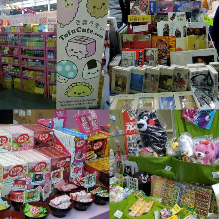 日本のキッチュなお菓子は根強い人気。個人的にはUKではあまりお目にかかれない書籍・雑誌に興味津々