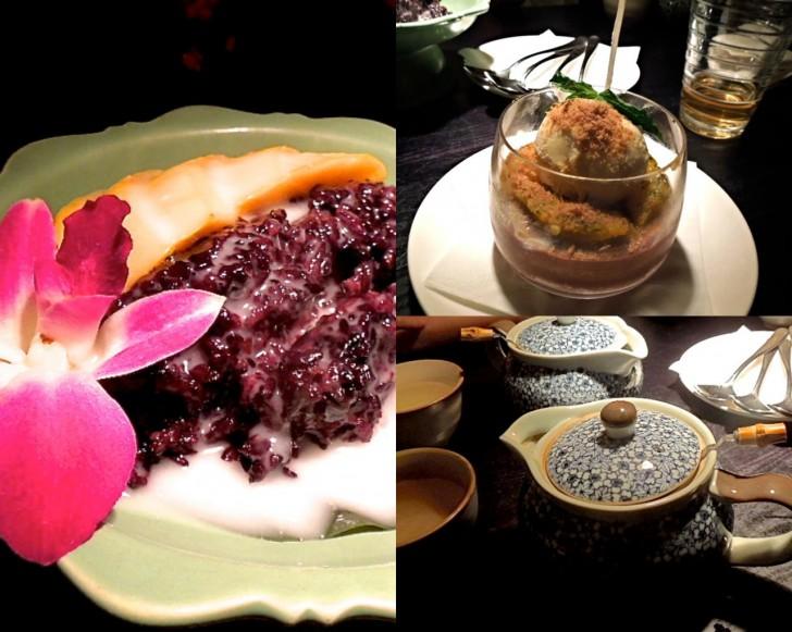 タイ風黒米のデザートはぜひ♪ チョコ・ムースも美味しいよん
