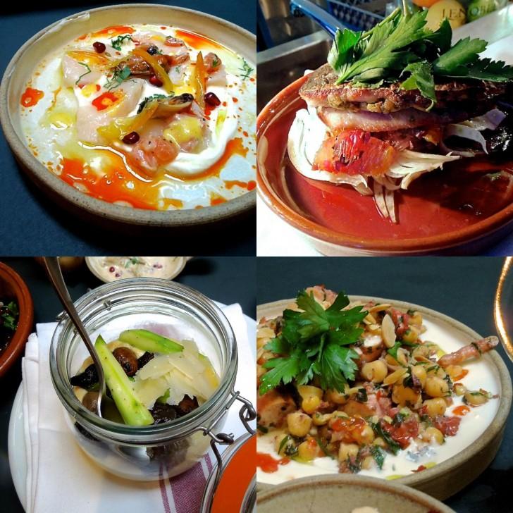 マッシュルーム・ラグーをトリュフ・オイル風味でいただくポレンタはエルサレムのレストランMachneyudaから。