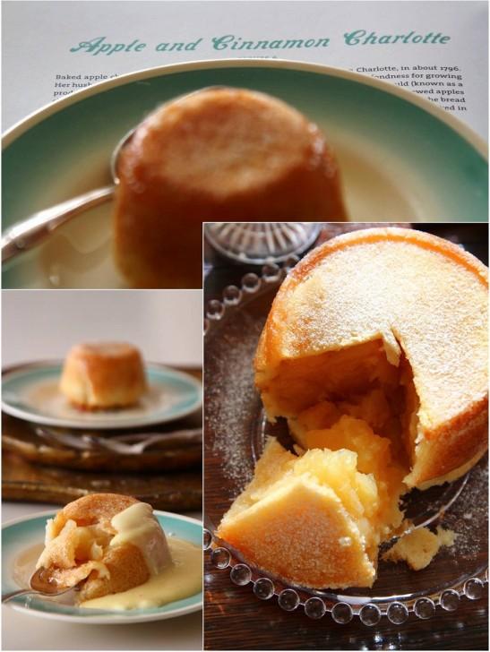 こんがり焼けたパンの中にはりんごがぎっしり☆