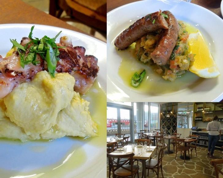 柔らかタコとFavaは好みの味♪ ソーセージは牛肉のものから豚肉のものに快く変更してくれました