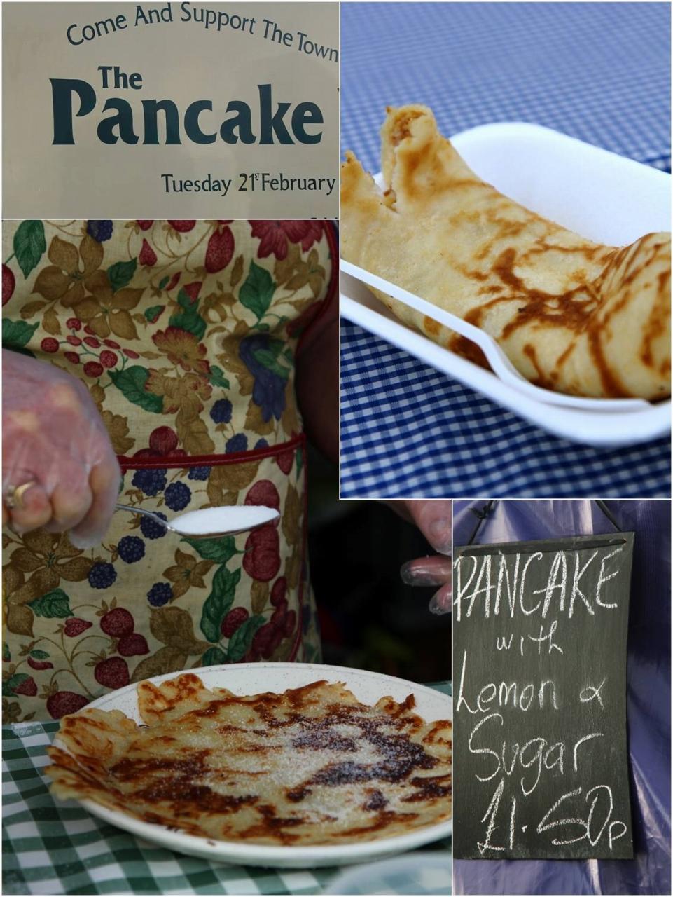 オルニーのパンケーキレース会場のパンケーキ☆トッピングはシンプルにレモン&シュガーのみ☆