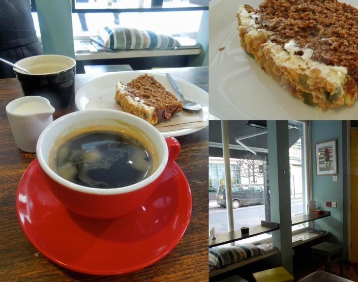 オーヒーは美味しかったですが、キャロット・ケーキは平均的なお味