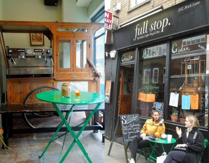 ブリック・レーン沿いの貴重なカフェ