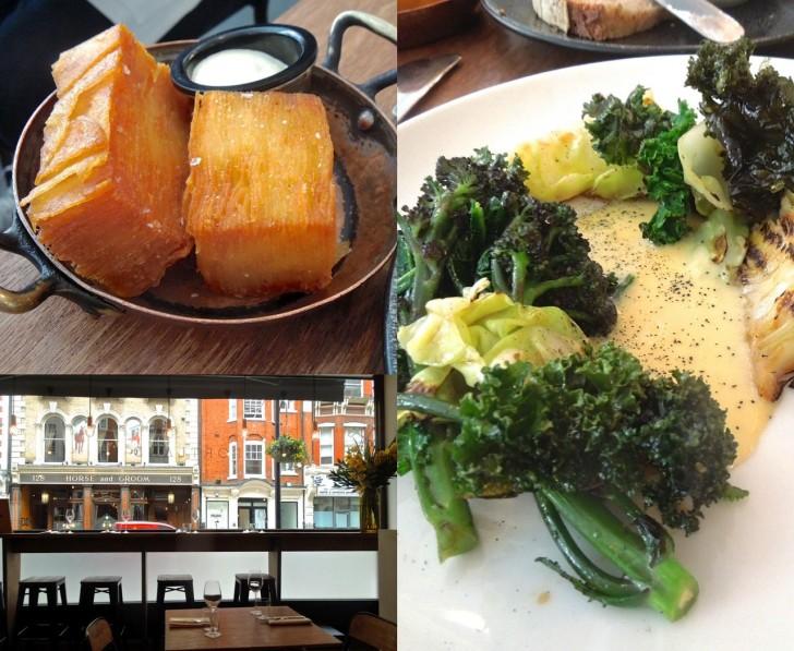 クリスピー・ポテトはキムチ・マヨで ^^   季節の野菜をグリルし、エッグ・エマルジョンでいただく一品は野菜のパワーを感じられたメイン・コース