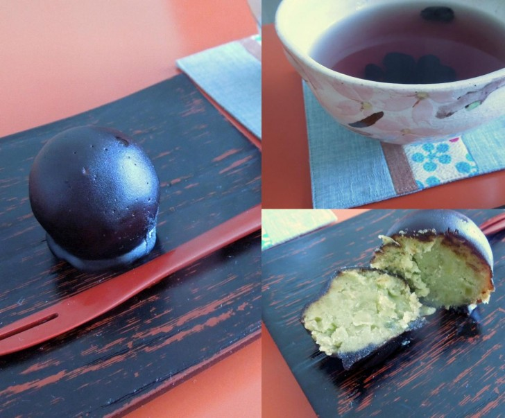 すっかりファンになってしまった「くろ玉」。黒豆茶も美味しい〜