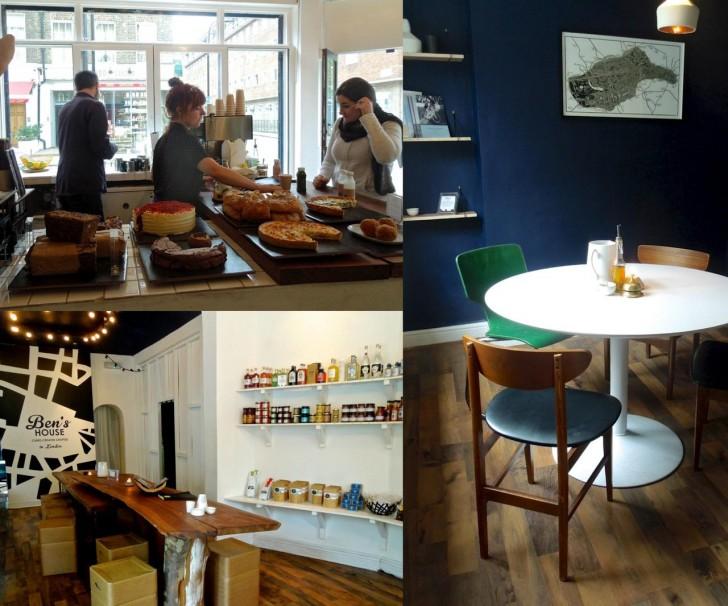 右は店の奥にある静かな小部屋「The Snug」。1時間15ポンドで借りられる素敵なミーティング空間☆