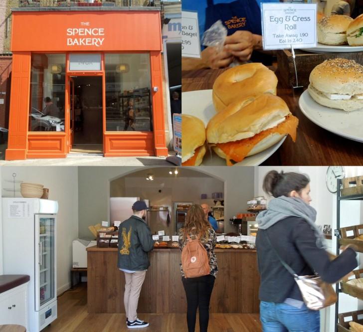 ベーグル・サンドもパン屋さんのものだとさらに美味しそう♪ オレンジのショップ・カラーが目印。