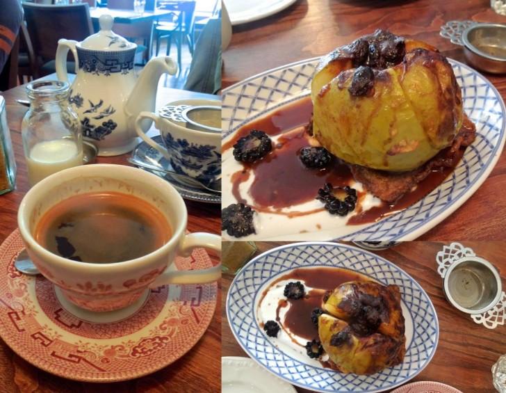シナモン&焼きリンゴのキャラメル・ソースは素朴なお味☆