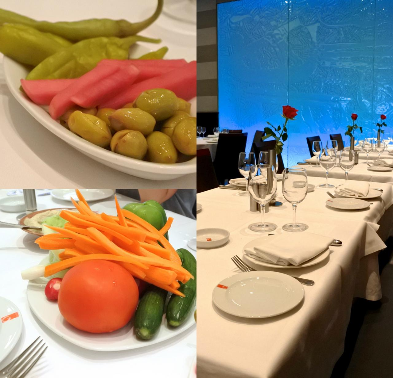 正統派レバノン・レストランでよく突き出しに出される丸ごと生野菜がよい口直しに☆