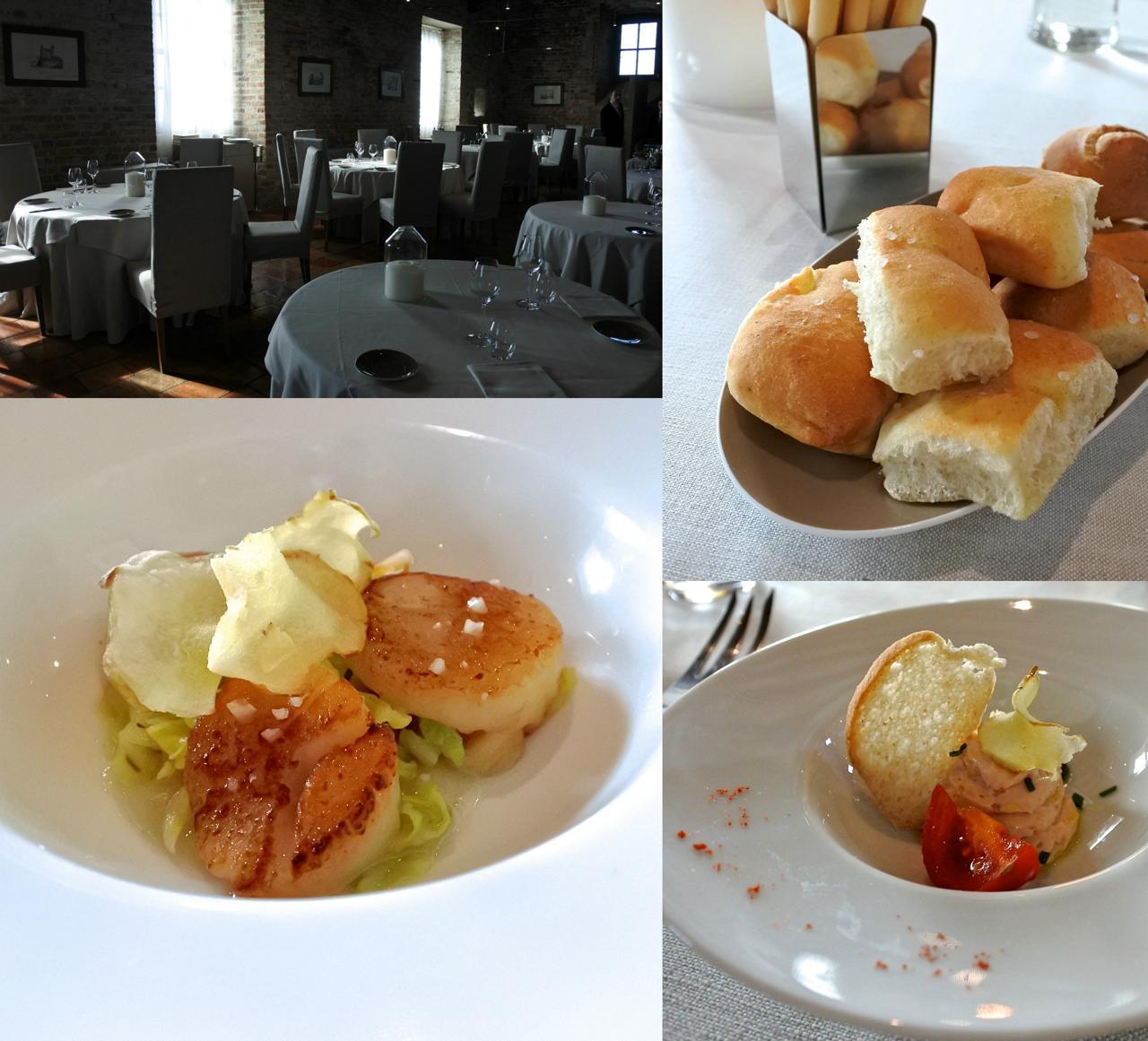 パンもグリッシーニもお料理も、すべて美味しかった☆