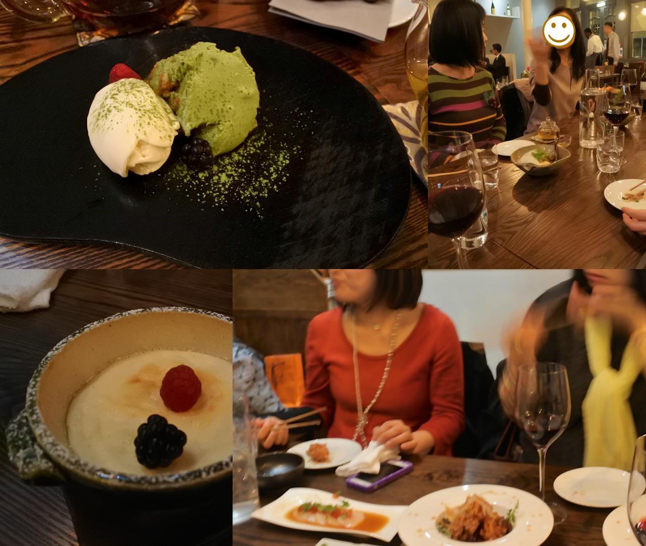 左下はこれまた初めてのデザート、柚子スフレ。スフレっぽく仕上がってはいますが、柚子チーズケーキですね ^^