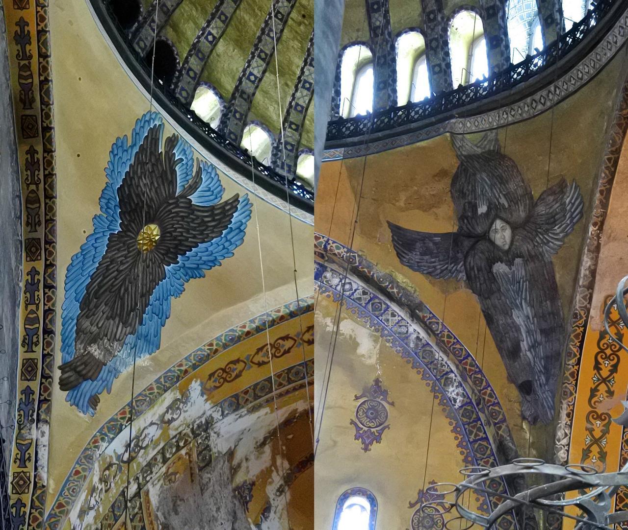 天井では巨大なセラフィムが青い炎を燃え立たせていた。