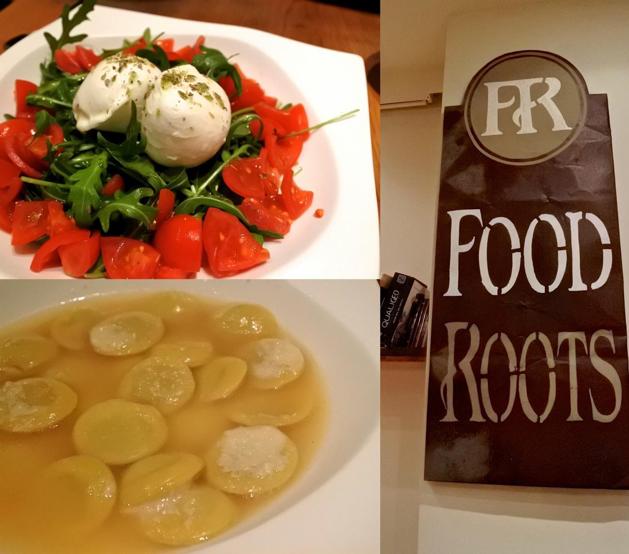 完熟トマトとフレッシュ・モッツァレラ、そして生きのいいロケット菜のカプレーゼ。素材が違う!