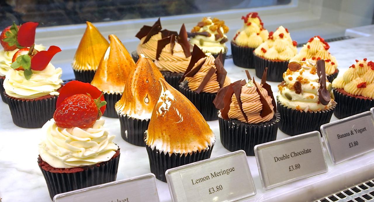 凝縮されたフレーバーのカップケーキたち。見た目も可愛い!