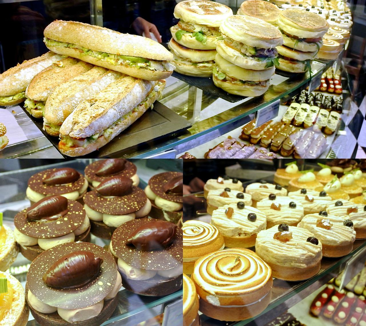 サンドイッチ類はボリューム満点、ケーキも大ぶりです