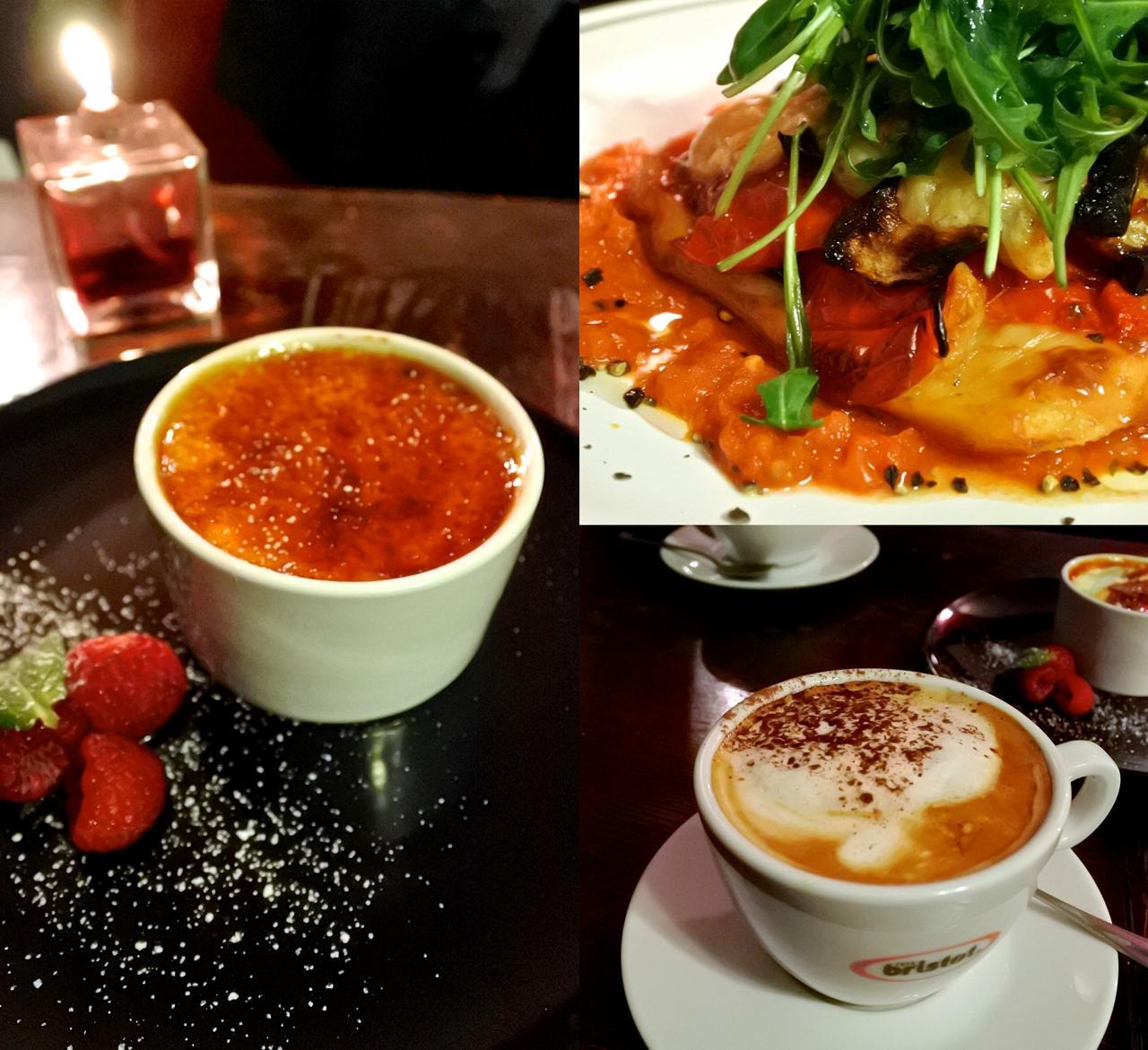 右上はロースト野菜とポレンタの一品。ベジ料理が美味しいのが得点高い ^^