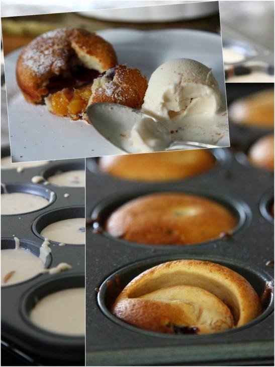 プラムやりんご、ベリーなどを入れて焼けばヨークシャープディングも立派なデザートに☆