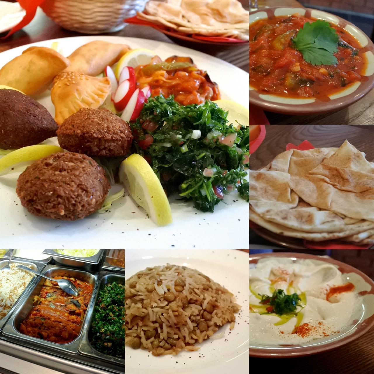 レバノン料理のメッゼ類。なかなかいけます!
