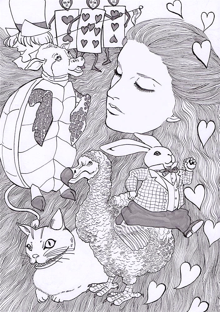 th_Alice in wonderland bw 2
