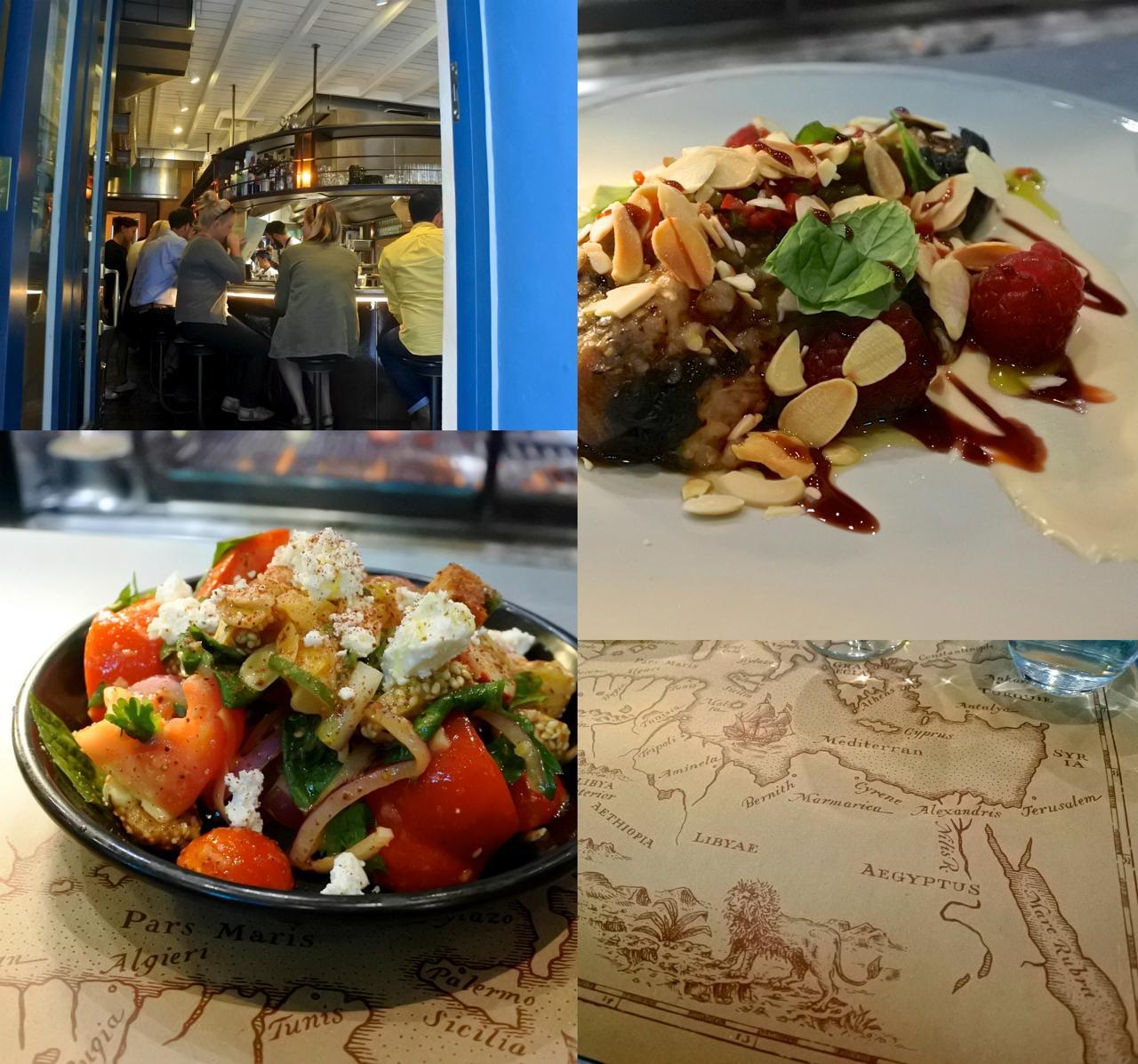 左下はトマトとタマネギ、その他野菜にクルトンを加えたサラダ。とっても新鮮で丁寧に作られた佳品☆