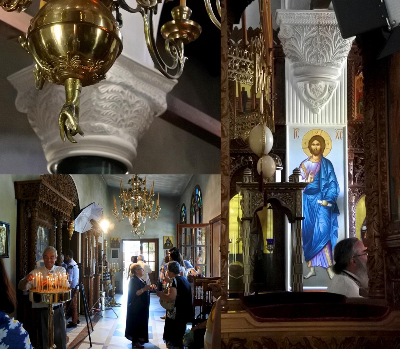 美しい修道院でした。ランプの先についた手は印を結んでいるのですが、きっと観音様、つまり聖母マリアの救いの手なんでしょうね ^^