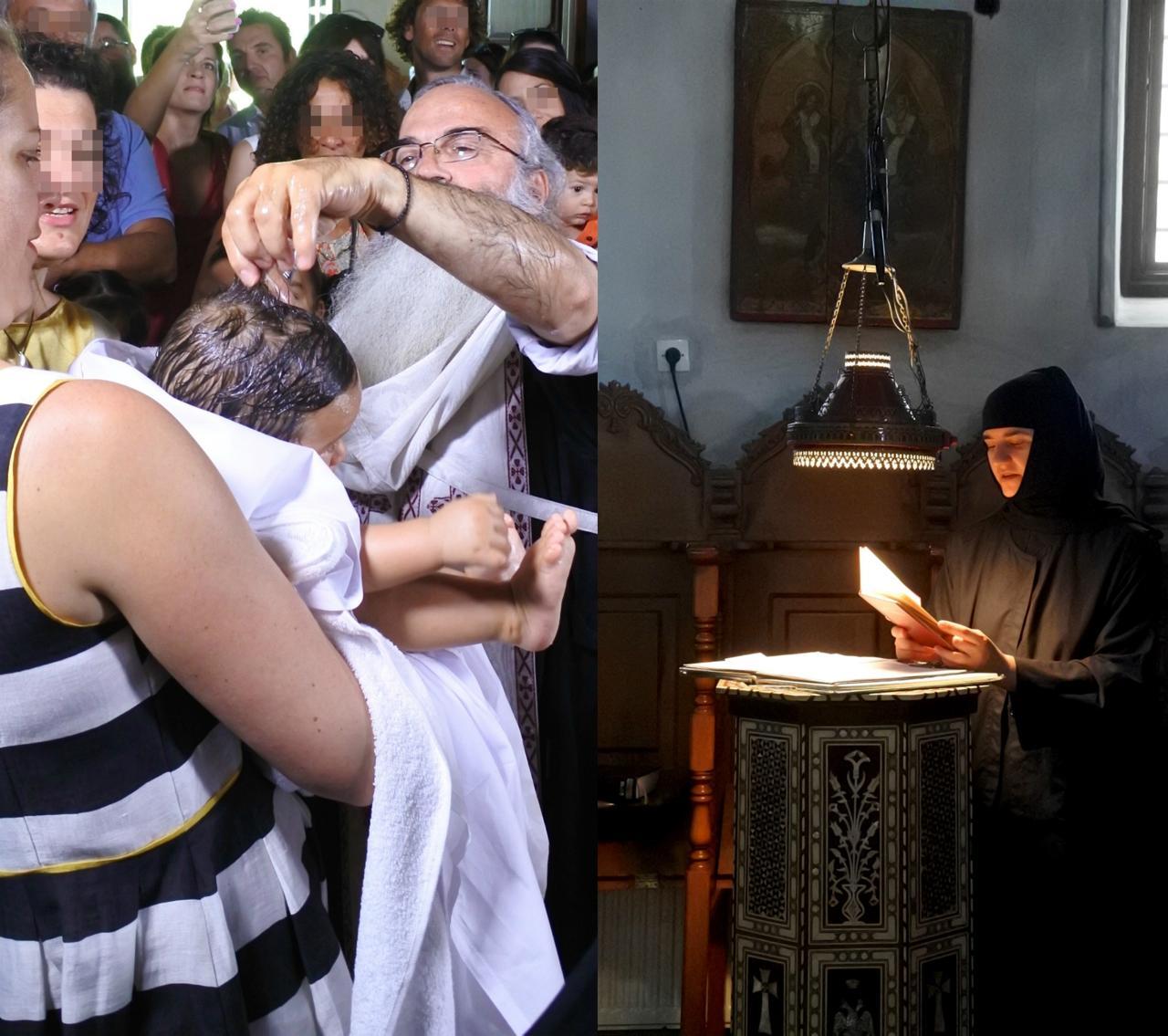 髪の毛を切る司教。以外といっぱいw 式の間、聖歌を唱えてくださっていた尼僧さん