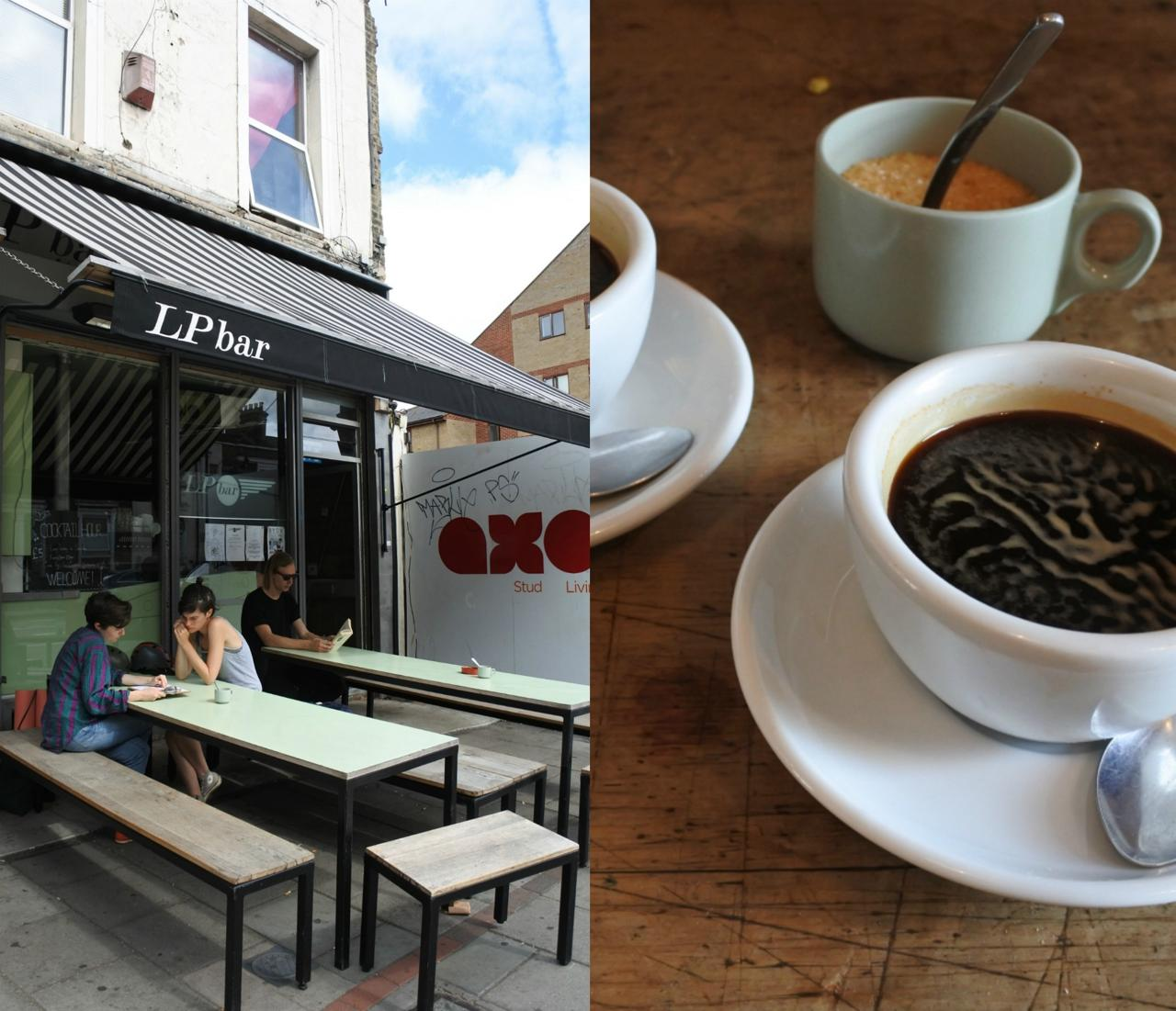 コーヒーは隣のバーからやってくる。スタッフはとてもプロフェッショナル。学生さんアルバイトもいらっしゃいますが ^^
