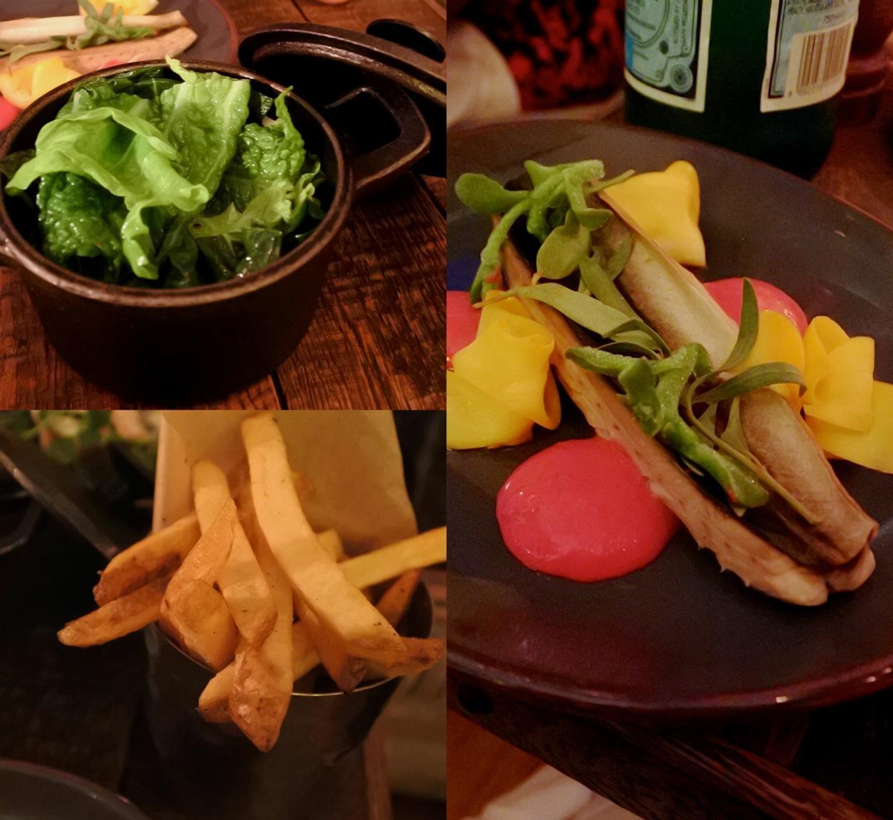 右はサバ、ビートルート・クリーム。美味しいのですが、サバの焼き方とかが日本人には?な感じなの ^^;  それとチップスが「トリプルクック」になってたので注文したのだけど、ふつーのチップスだったw