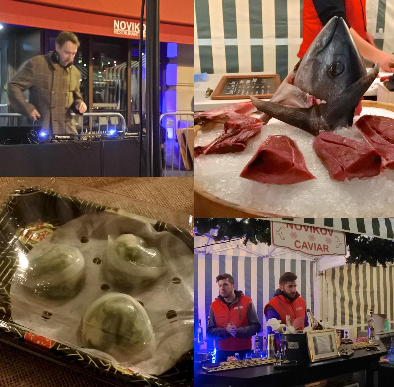マグロ!!! 写真ないですが、刺身とか寿司とか、すごかったです。点心(これだけ食べた。塩強めだが旨し)キャビア屋台までっ