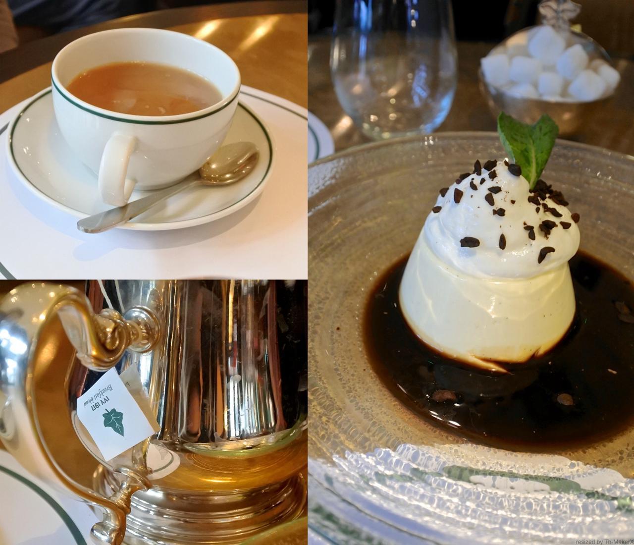 パンナコッタも美味☆ デザートも頻繁に入れ替わる模様。紅茶は自社ブランド品を作っているみたい