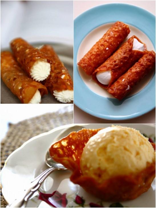 クリームを詰めたり、アイスを盛ったら、パリパリ感がなくなる前に急いで食べましょう~☆