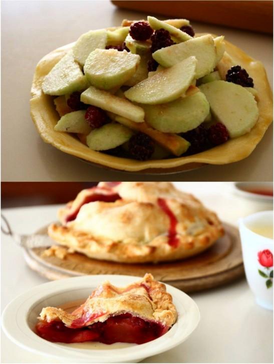 アップルパイにブラックベリーはイギリス定番の組み合わせ☆