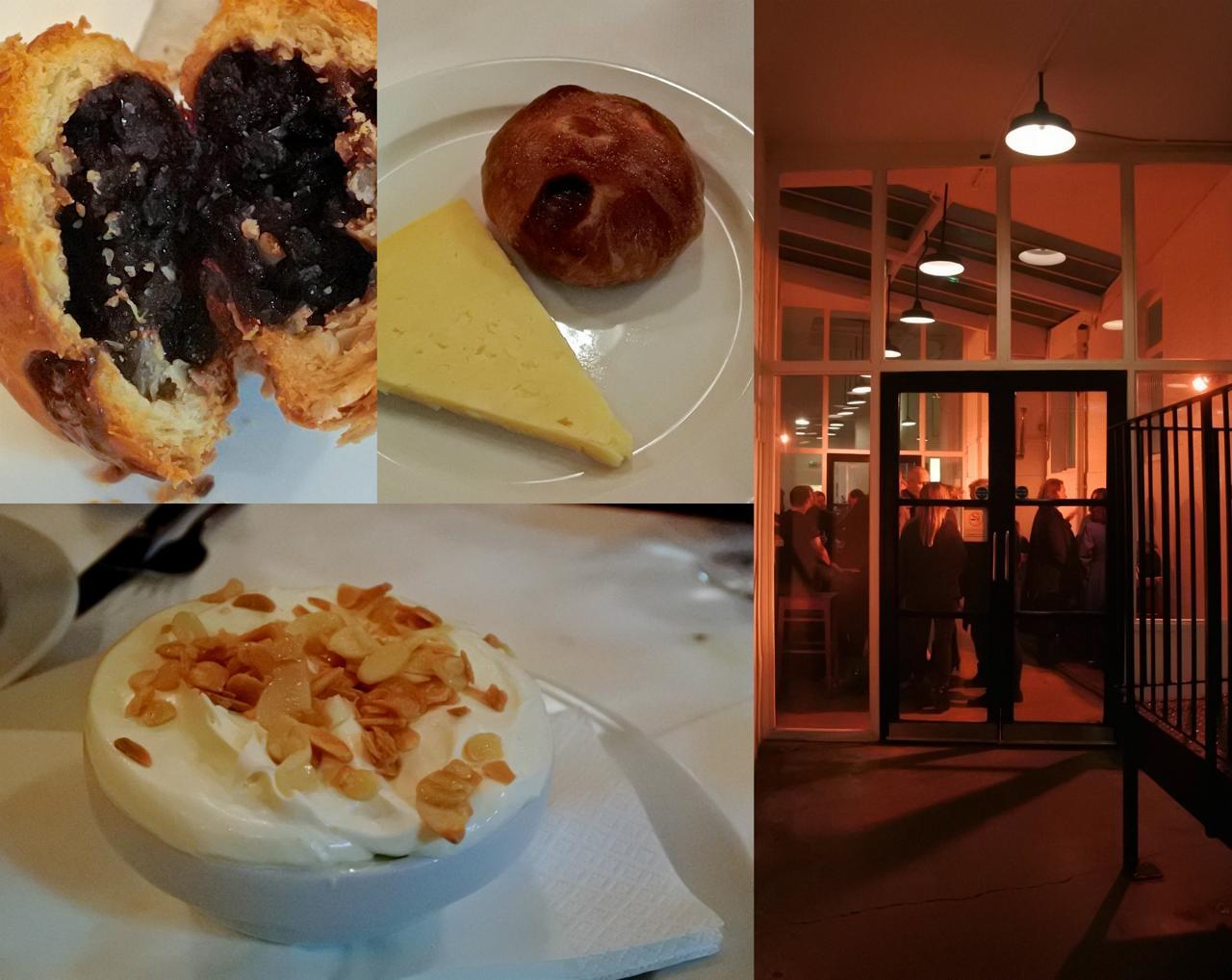上がカレント餡のペイストリー「エクルス・ケーキ」にランカシャー・チーズを添えたデザート。大好き♡ 下のトライフルも美味しかったです☆