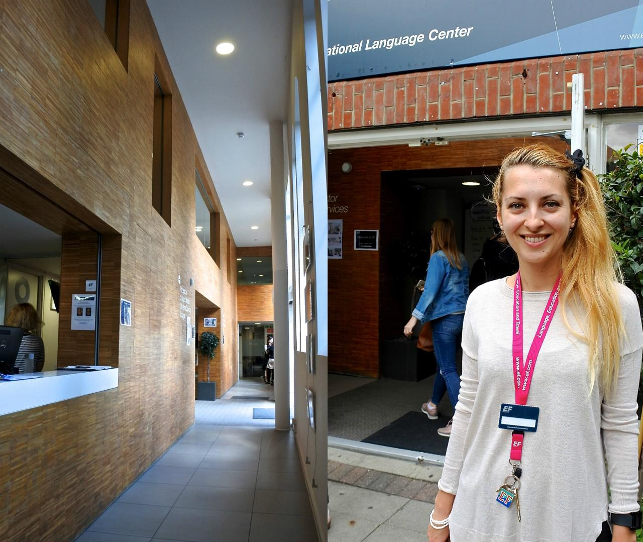 右は案内してくださったジョージアナさん。25 歳以上の学生にアクティビティを紹介しているコーディネーターさんです。ルーマニア美人♪