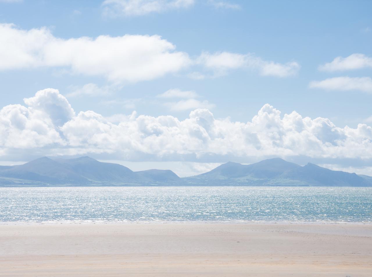 こんなビーチを独占〜。