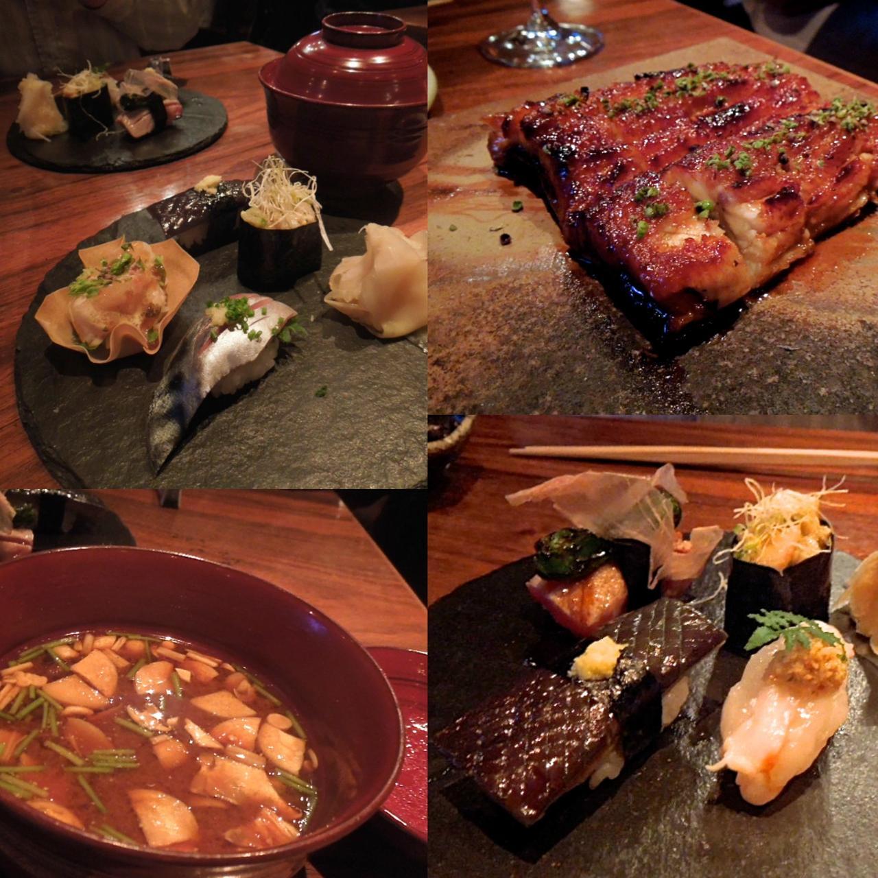 うなぎ蒲焼きとお寿司アラカルト