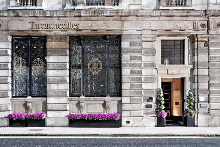 2. Threadneedles Hotel entrance