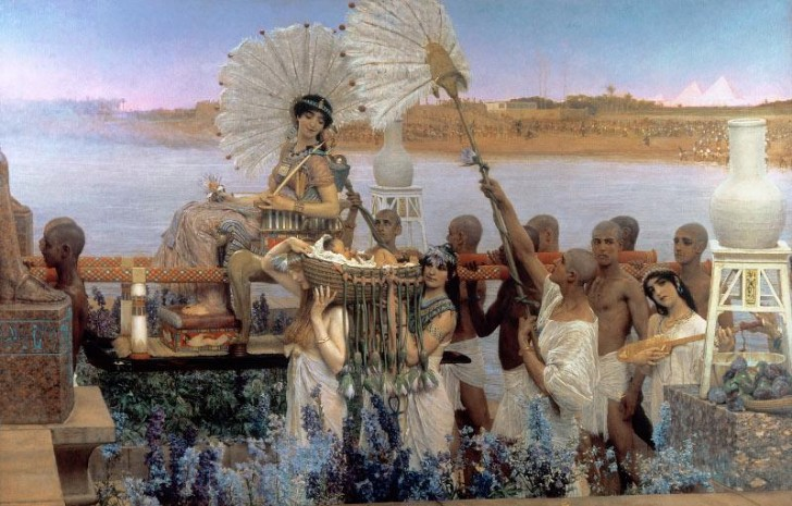 tadema_the finding of moses