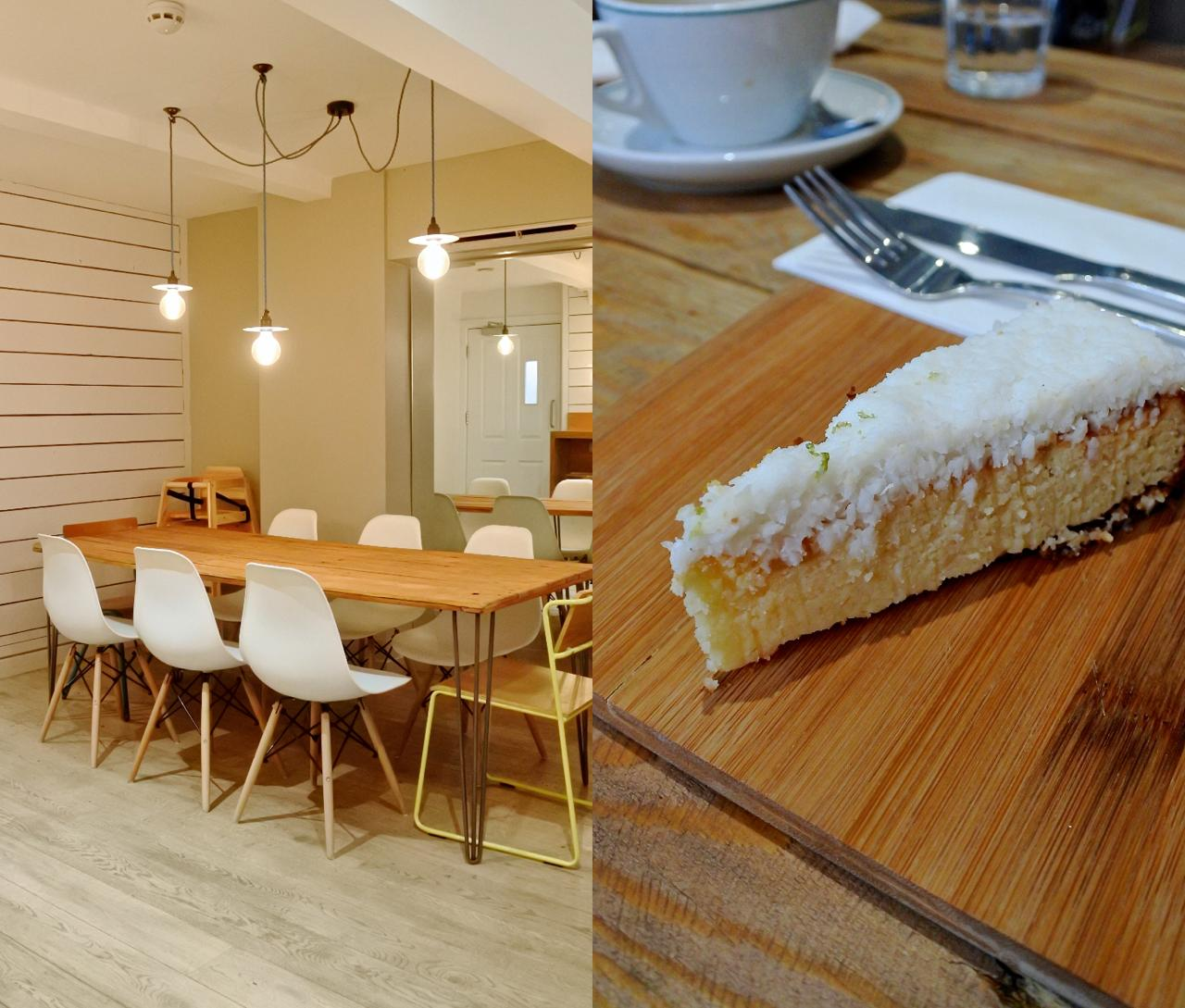 左が地下スペース。右はココナッツのケーキ♪
