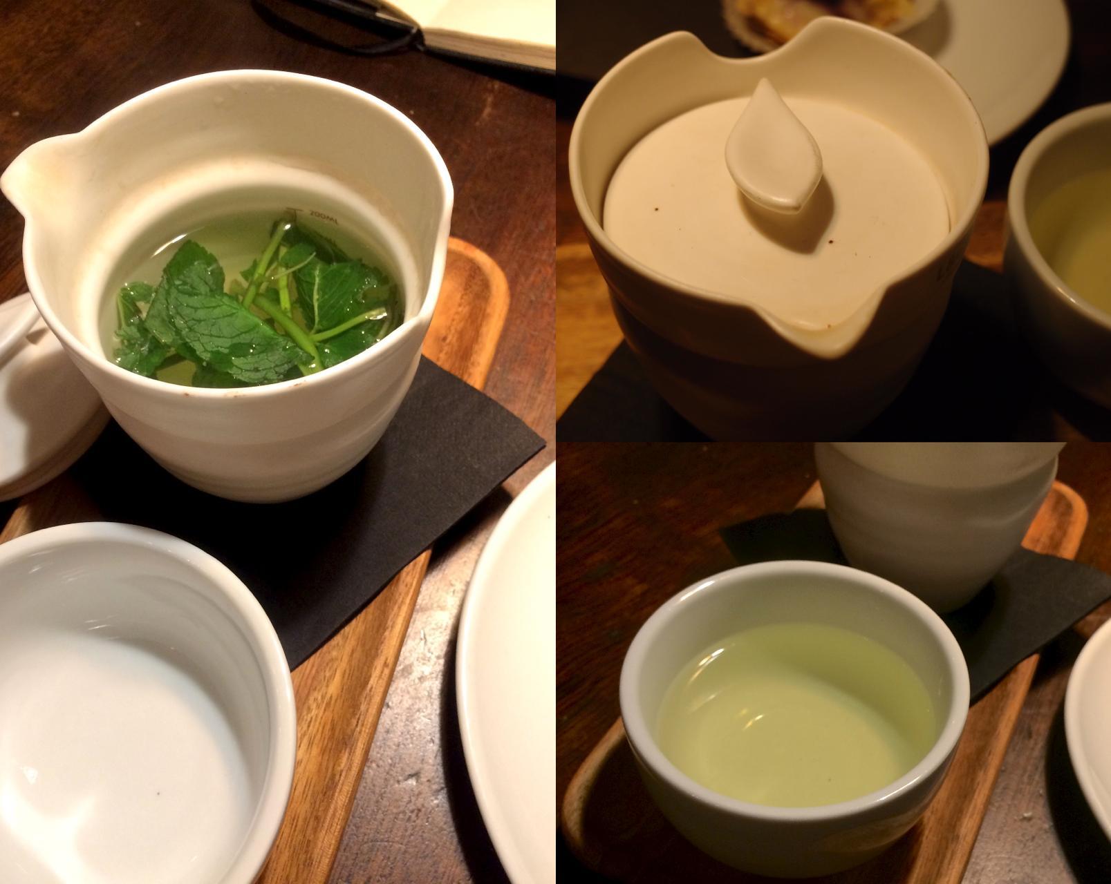 右上の写真は、Hideさんの手になるもの。茶器ひとつ撮っても、雰囲気が違います。
