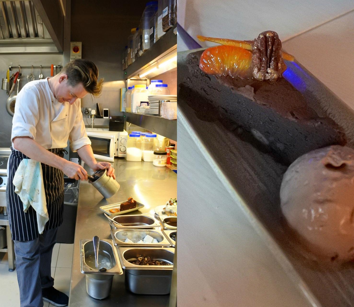 焼き菓子は基本、とっても美味しいハニー・ブランド。左はペイストリー・セクションで一人サービスしていた友人の同僚 ^^