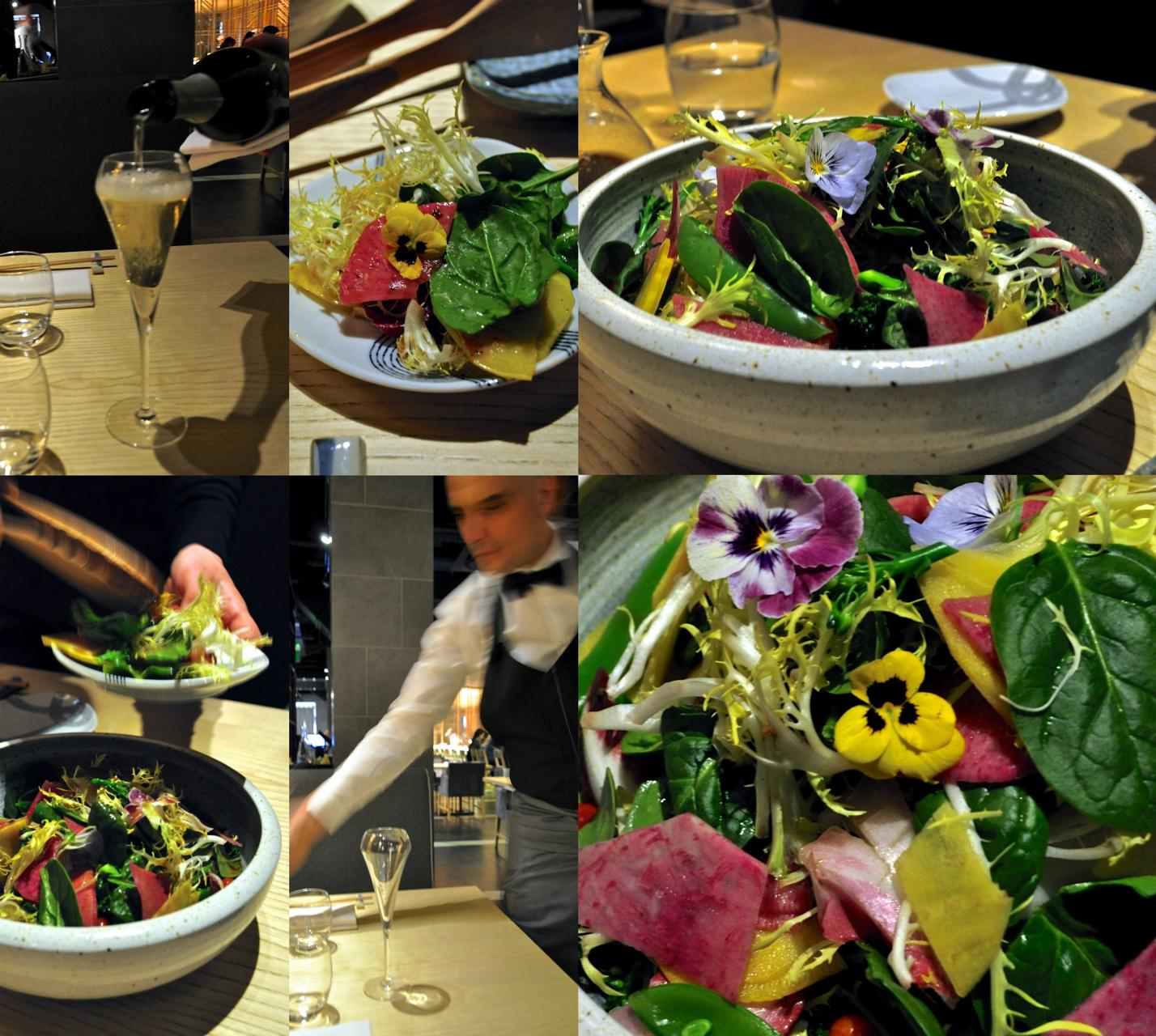 カラフルなオーガニック・サラダ♪ 梅ドレッシングが美味しかった