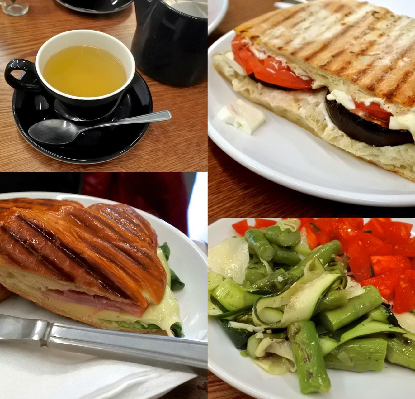 サンドイッチ大好きゆえに、あまり食べ過ぎないようにしているサンドイッチ・・・こうして友人とシェアしつつランチに食べるって私にとって至福のときなのですw