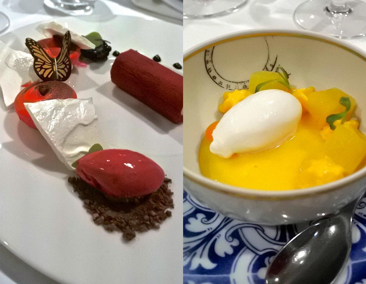 デザートもすごく美味しかった・・・チョウチョが可愛いでしょう? マンゴー・ムース、旨い!