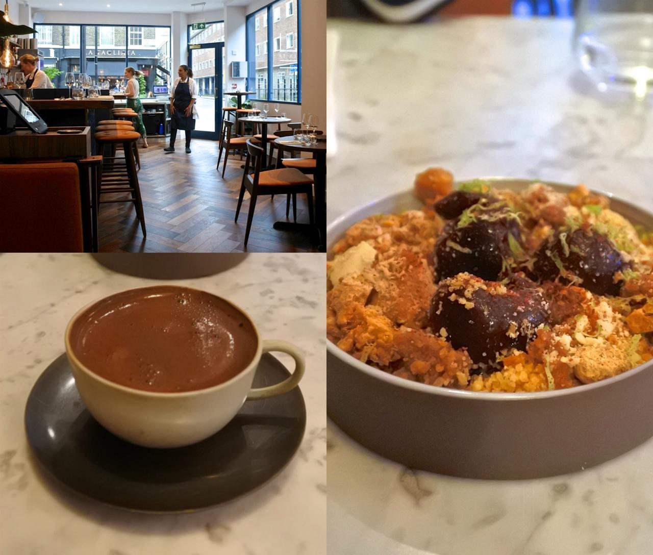 チェリー・クランブル美味しい♡ トルコ・コーヒーも甘さと深みを感じられる優秀な出来栄え。